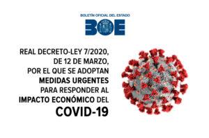 RD-Ley 7/2020 Medidas Urgentes para responder al impacto económico del COVID19