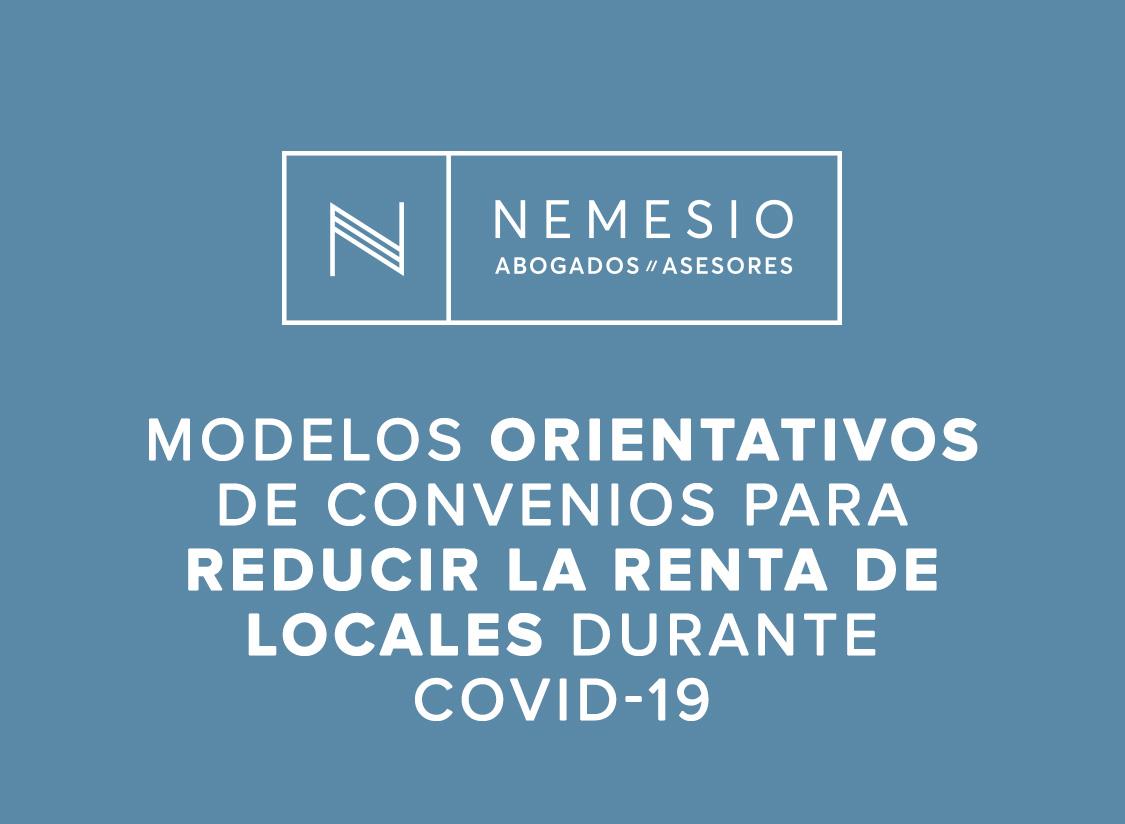 Modelos orientativos de convenios para reducir la renta de locales durante el estado de alarma