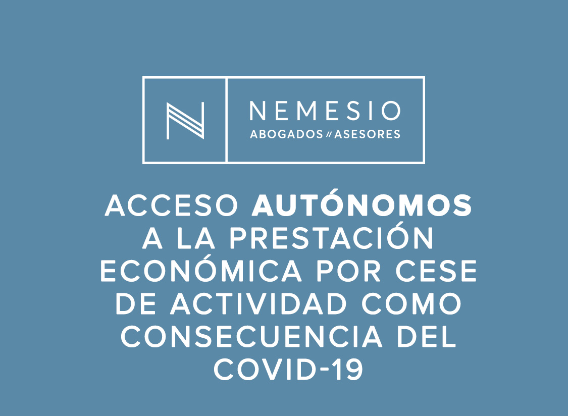COVID-19 y autónomos, acceso paro - nemesio abogados y asesores
