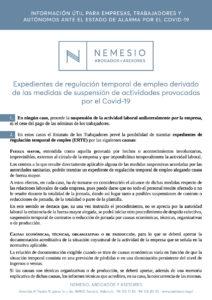 Explicación ERTEs, por COVID-19 Nemesio Abogados y Asesores