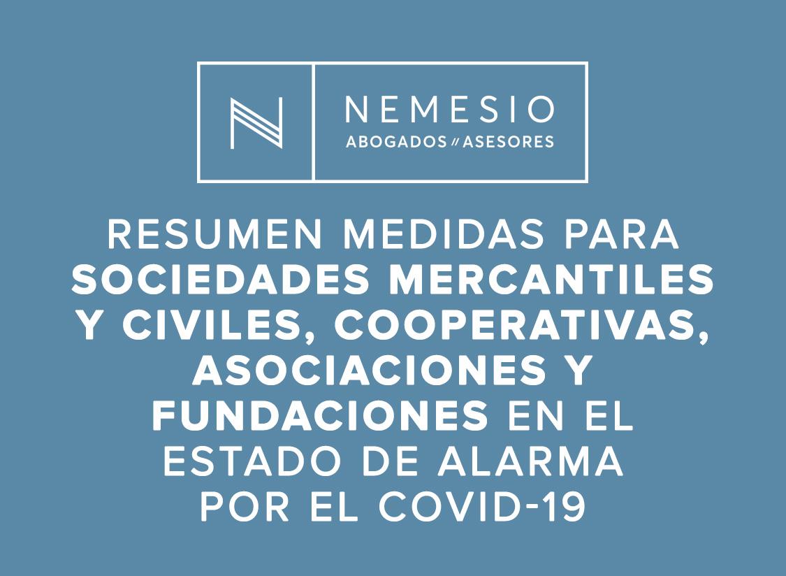 COVID-19 Medidas para sociedades mercantiles y civiles, cooperativas, asociaciones y fundaciones - nemesio abogados y asesores