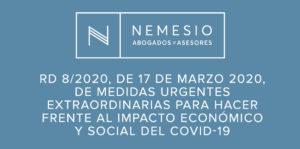 RD ley 8/2020 - Estado de Alarma por covid-19 Nemesio Abogados y Asesores