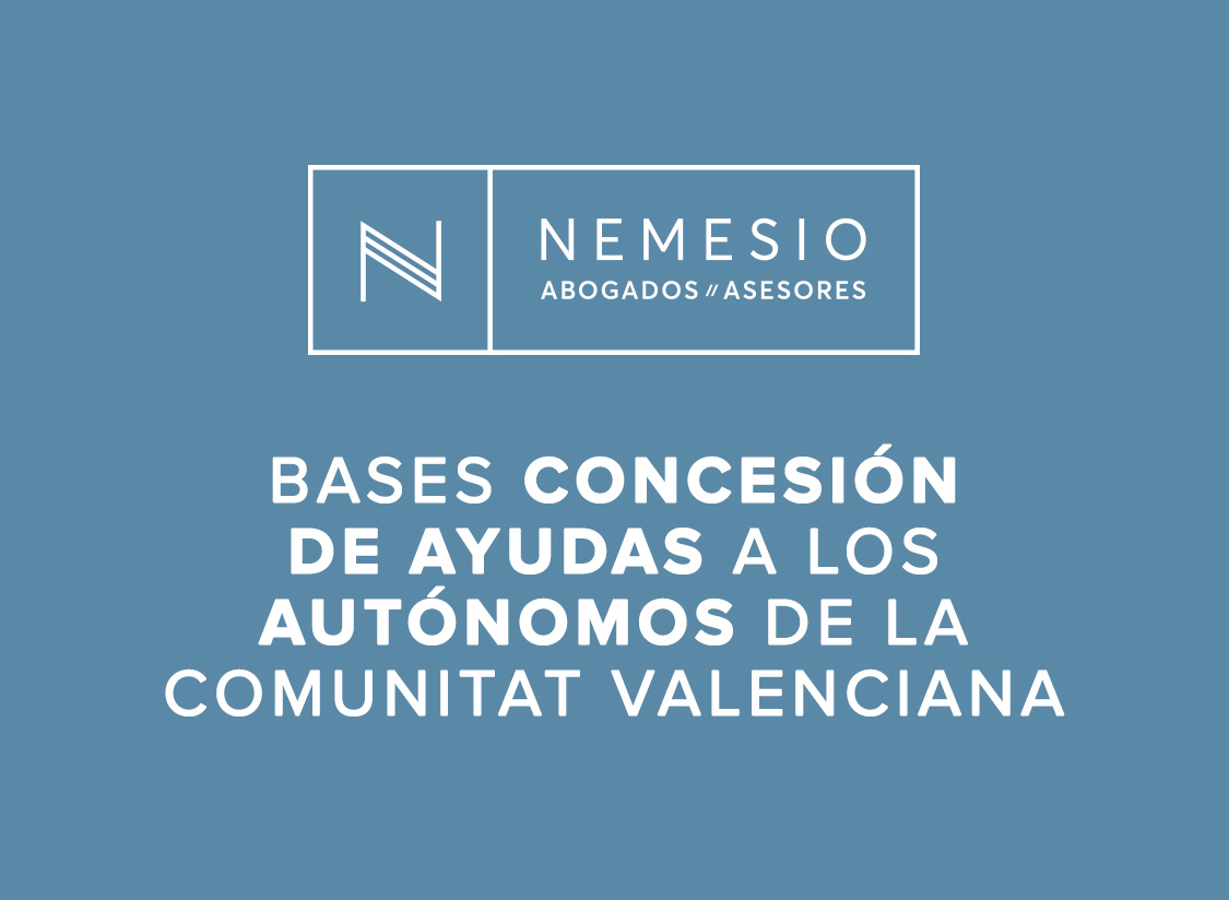 Bases: concesión de ayudas a los autónomos de la Comunitat Valenciana
