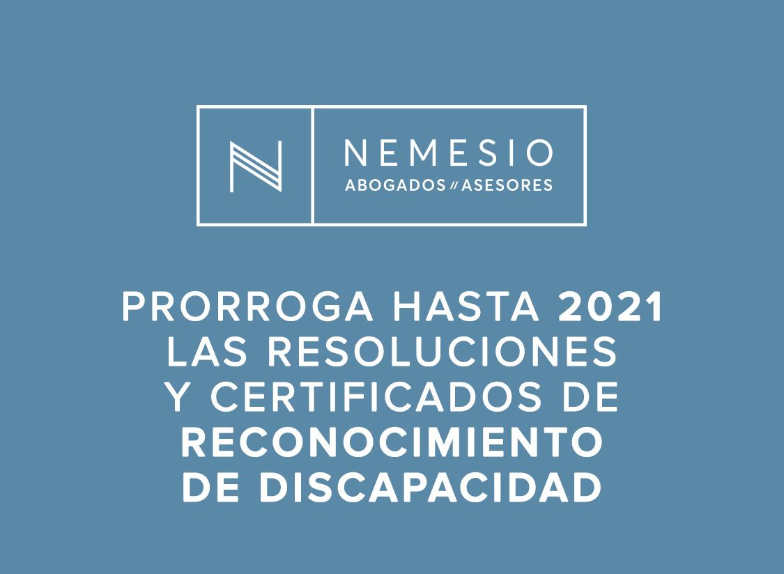 Se prorroga hasta 2021 las resoluciones y certificados de reconocimiento de discapacidad