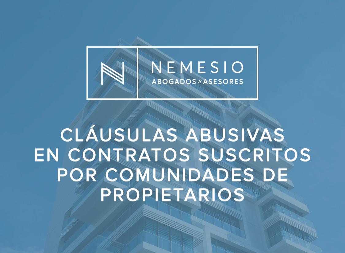 Cláusulas abusivas en contratos suscritos por comunidades de propietarios