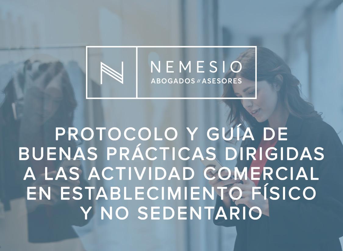 Protocolo y Guía de Buenas Prácticas dirigidas a las actividad comercial en establecimiento físico y no sedentario