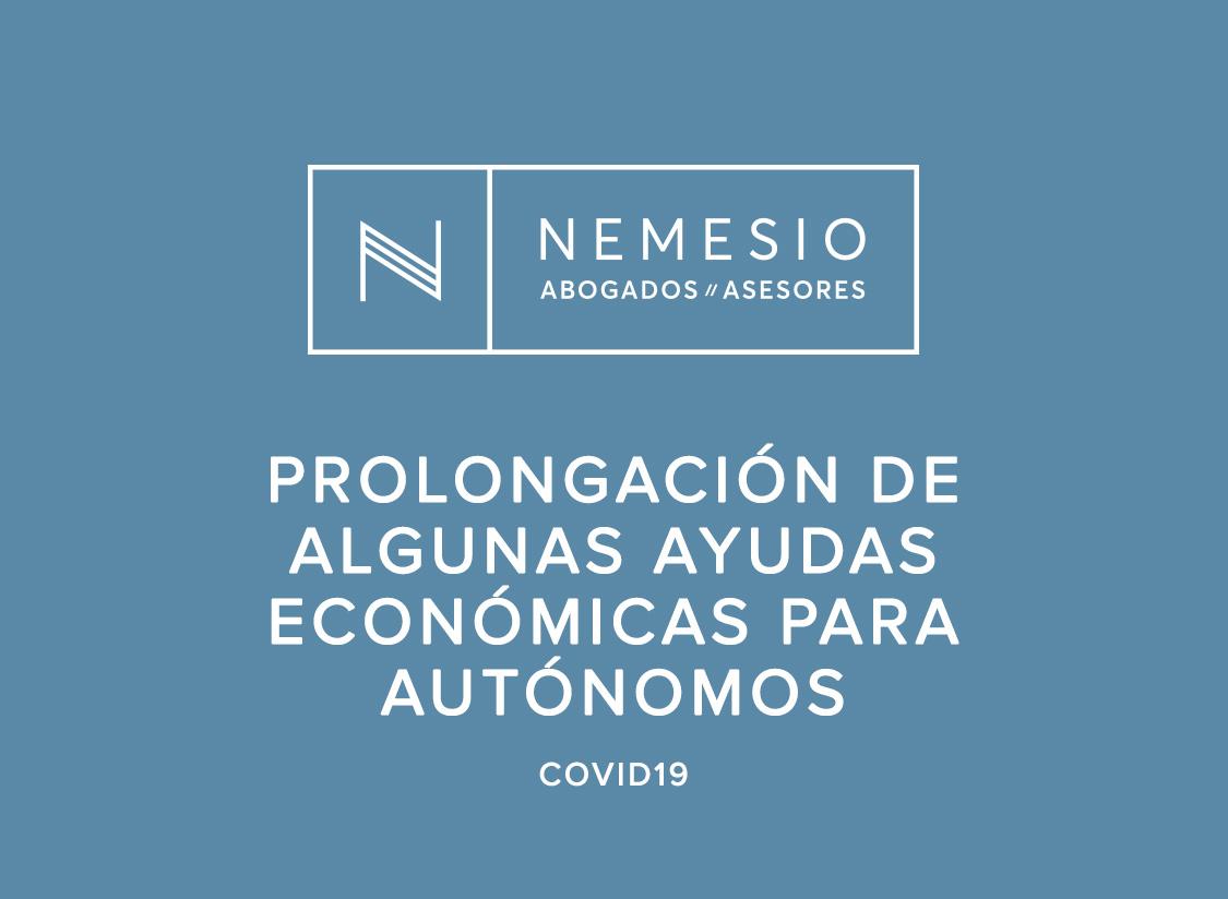 Prolongación de algunas ayudas económicas para autónomos