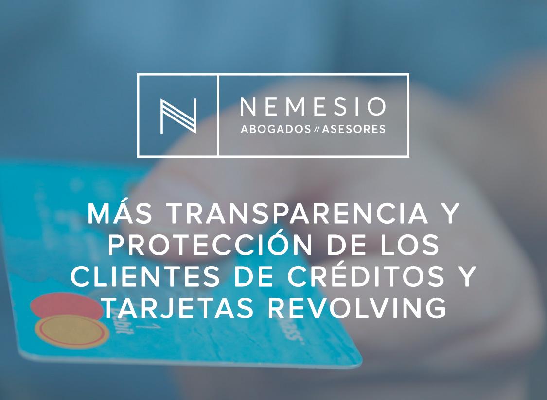 aumenta la transparencia y protección de los clientes de créditos y tarjetas revolving