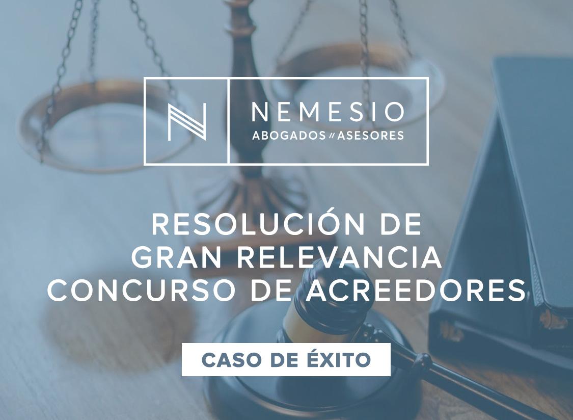 Reciente resolución de gran relevancia en materia Concursal dictada por un Juzgado de Valencia